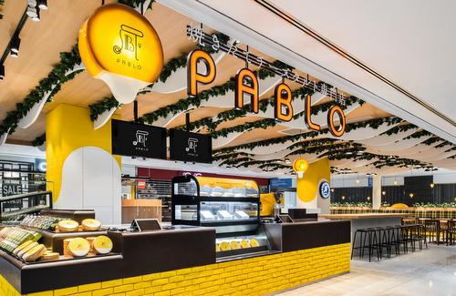 PABLO Cheese Tart cafe at Wisma Atria shopping mall in Singapore.