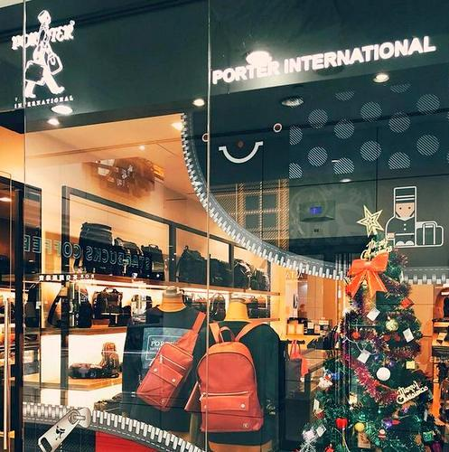 Porter International bag shop in Singapore.