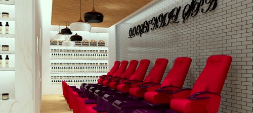 Qoosh Nail Spa at Wisma Atria shopping centre in Singapore.
