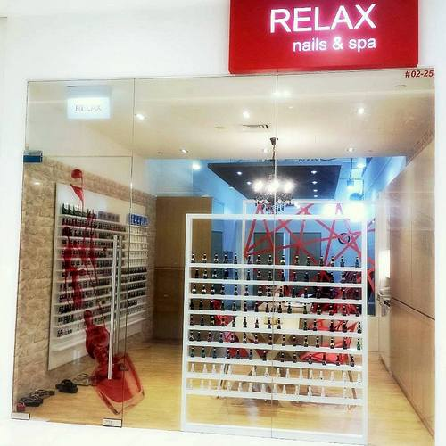 Relax Nails & Spa salon at City Square Mall in Singapore.