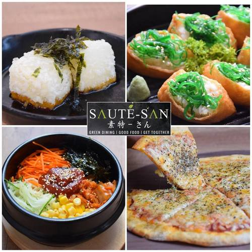 Saute-san vegan & vegetarian meals, available in Singapore.