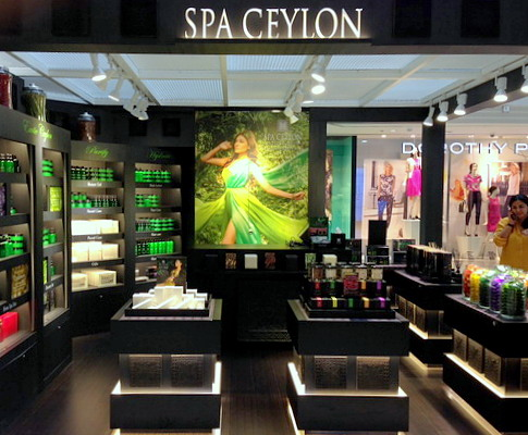 Spa Ceylon boutique at Wisma Atria shopping centre in Singapore.