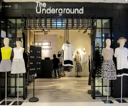 The Underground clothing store at Westgate Mall in Singapore.
