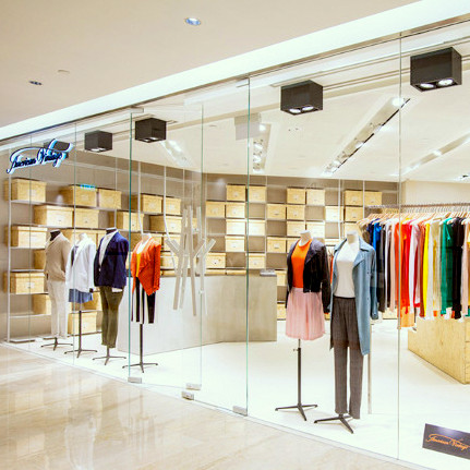 American Vintage clothing store at Ngee Ann City mall in Singapore.