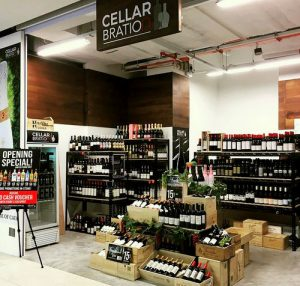 Cellarbration wine & liquor store at OneKM shopping centre in Singapore.