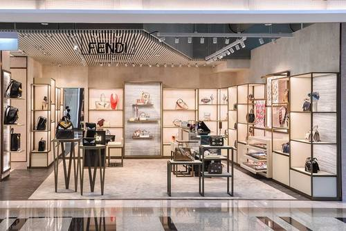Fendi store at Terminal 3 of Changi Airport in Singapore.