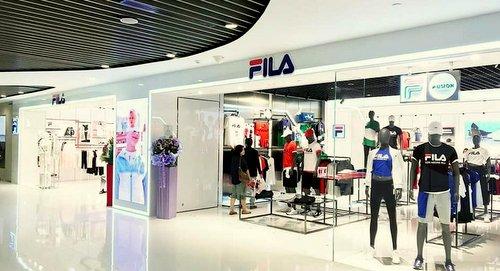 FILA store at VivoCity shopping centre in Singapore.