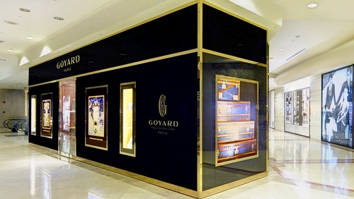 Goyard bag store at Ngee Ann City in Singapore.