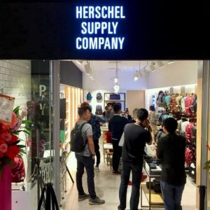 Herschel Supply Co. bag store at Marina Square mall in Singapore.