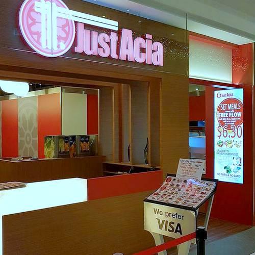 JustAcia restaurant in Singapore.