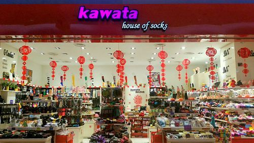 Kawata House of Socks store in Singapore.