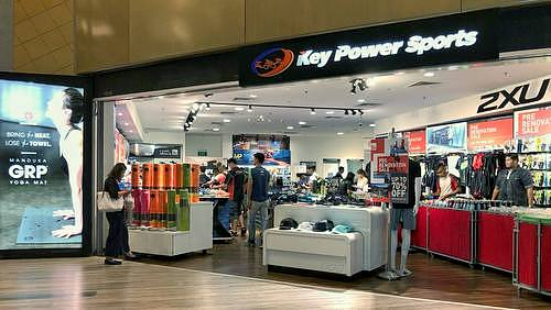 Key Power Sports store at Velocity @ Novena Square in Singapore.