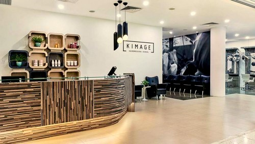 Kimage Hairdressing School at Marina Square shopping centre in Singapore.