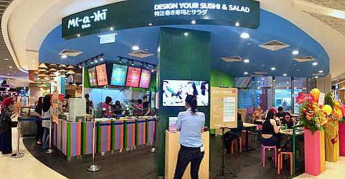 Maki-San sushi restaurant at Bedok Mall in Singapore.