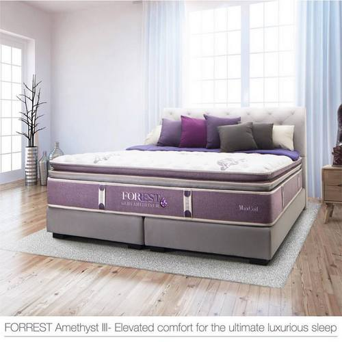 MaxCoil FORREST Amethyst III bed, available in Singapore.