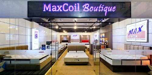 MaxCoil mattress shop at The Furniture Mall in Singapore.
