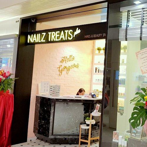 Nailz Treats nail salon at Century Square shopping centre in Singapore.
