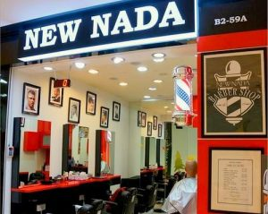 New Nada barber shop at Bedok Mall in Singapore.