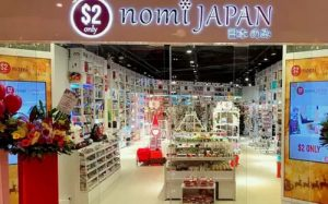 $2 Nomi Japan variety store at Marina Square in Singapore.