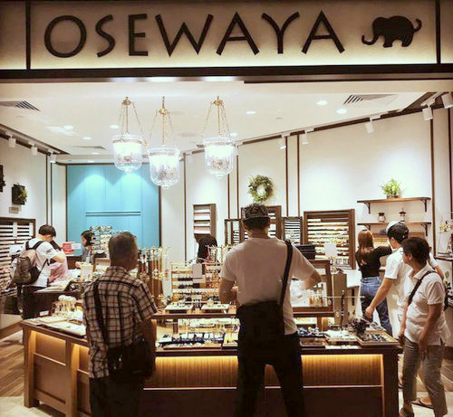 Osewaya accessories store at Takashimaya Shopping Centre in Singapore.
