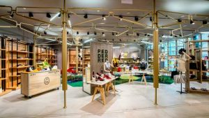 Pedder Red shoe store at Scotts Square in Singapore.