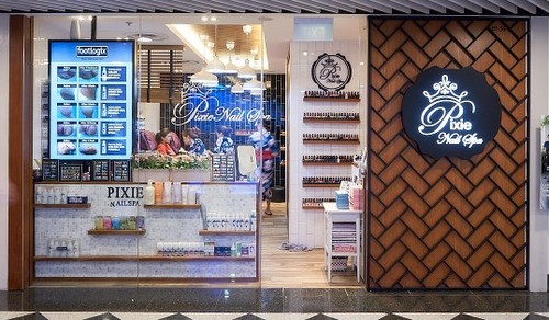 Pixie Nail Spa at Jurong Point shopping centre in Singapore.