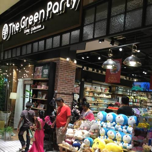 The Green Party Living Collection store at E!Avenue in Singapore.