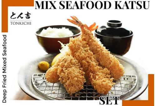 Tonkichi restaurant's Mix Seafood Katsu meal, available in Singapore.