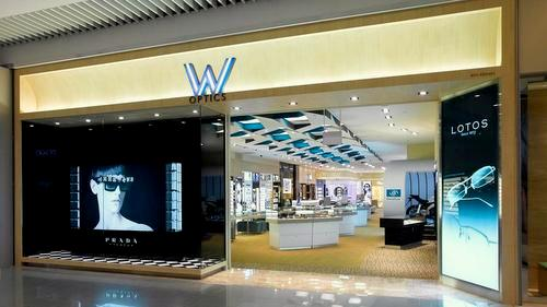 W Optics shop at Suntec City Mall in Singapore.
