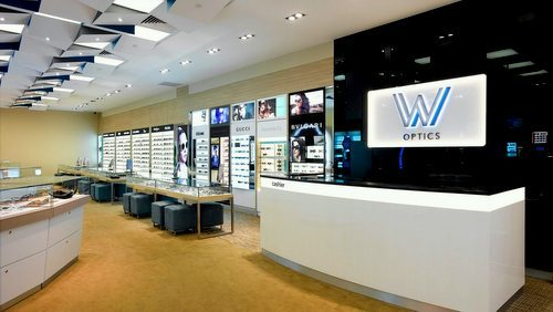 W Optics store at Suntec City shoping centre in Singapore.