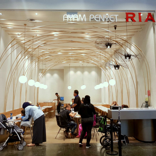 Ayam Penyet Ria Indonesian restaurant at Jurong Point shopping centre in Singapore.