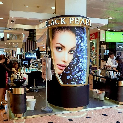 Black Pearl cosmetics store at Jurong Point shopping mall in Singapore.