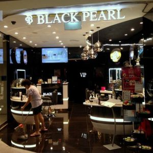 Black Pearl day spa at Esplanade MRT station in Singapore.