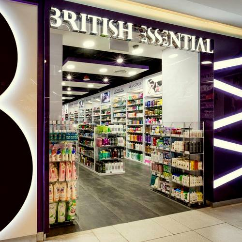 British Essential beauty store at Whitesands mall in Singapore.