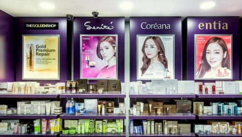 British Essential retail store with Korean beauty products in Singapore.