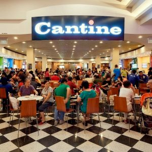 Cantine food court at Jurong Point shopping centre in SIngapore.