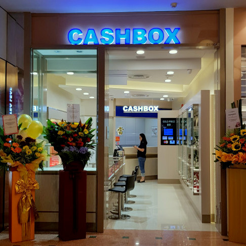Cash Box pawn shop at Jurong Point shopping mall in Singapore.