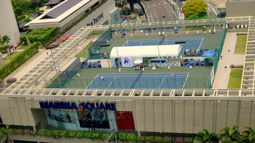 MBP Sports - Tennis Centre at Marina Square mall in Singapore.