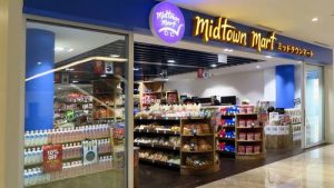 Midtown Mart Japanese food store at Marina Square mall in Singapore.