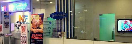 NF DentiSmile dental clinic at Marina Square shopping centre in Singapore.