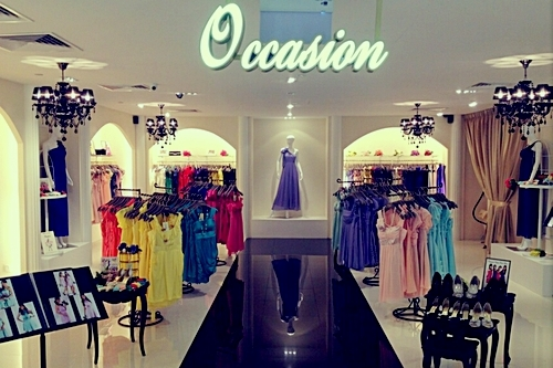 Occasion clothing boutique at Marina Square mall in Singapore.