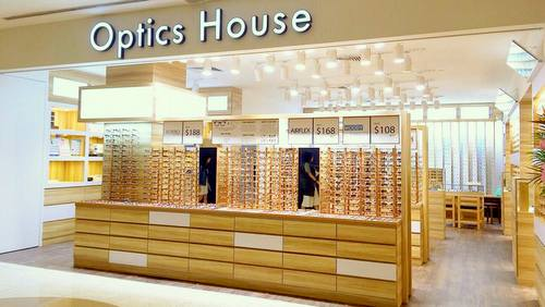 Optics House optical store at Marina Square shopping centre in Singapore.