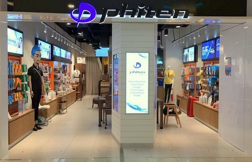 Phiten store at Marina Square shopping centre in Singapore.