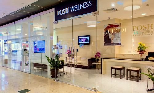 Posh Wellness beauty salon and day spa at Marina Square mall in Singapore.