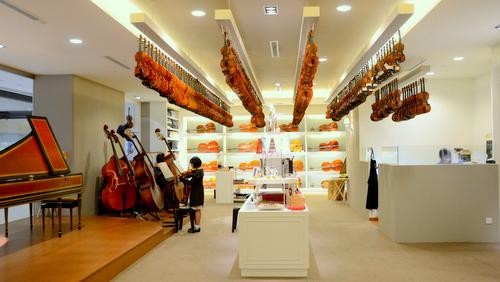 Synwin Violins musical instrument store at Marina Square shopping centre in Singapore.