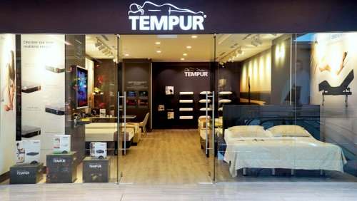 Tempur mattress store at Marina Square shopping centre in Singapore.