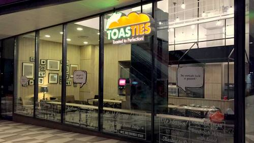 Toasties sandwich restaurant at 321 Clementi mall in Singapore.