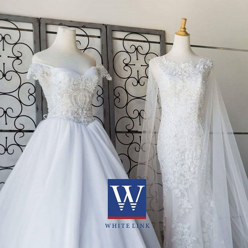 White Link bridal boutique's bridal gowns, available in Singapore.