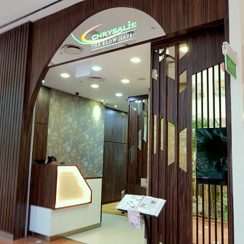 Chrysalis The Brow Haven at Jurong Point shopping mall in Singapore.