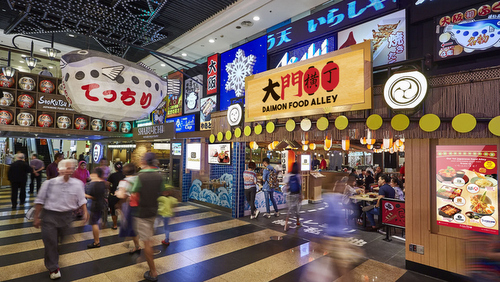 Daimon Food Alley at Jurong Point shopping centre in Singapore.